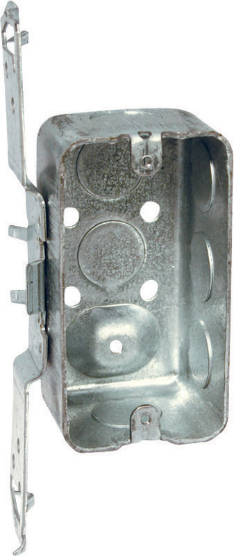 Raco  4 in. 1 Gang  Steel  Junction Box  Gray  Rectangle