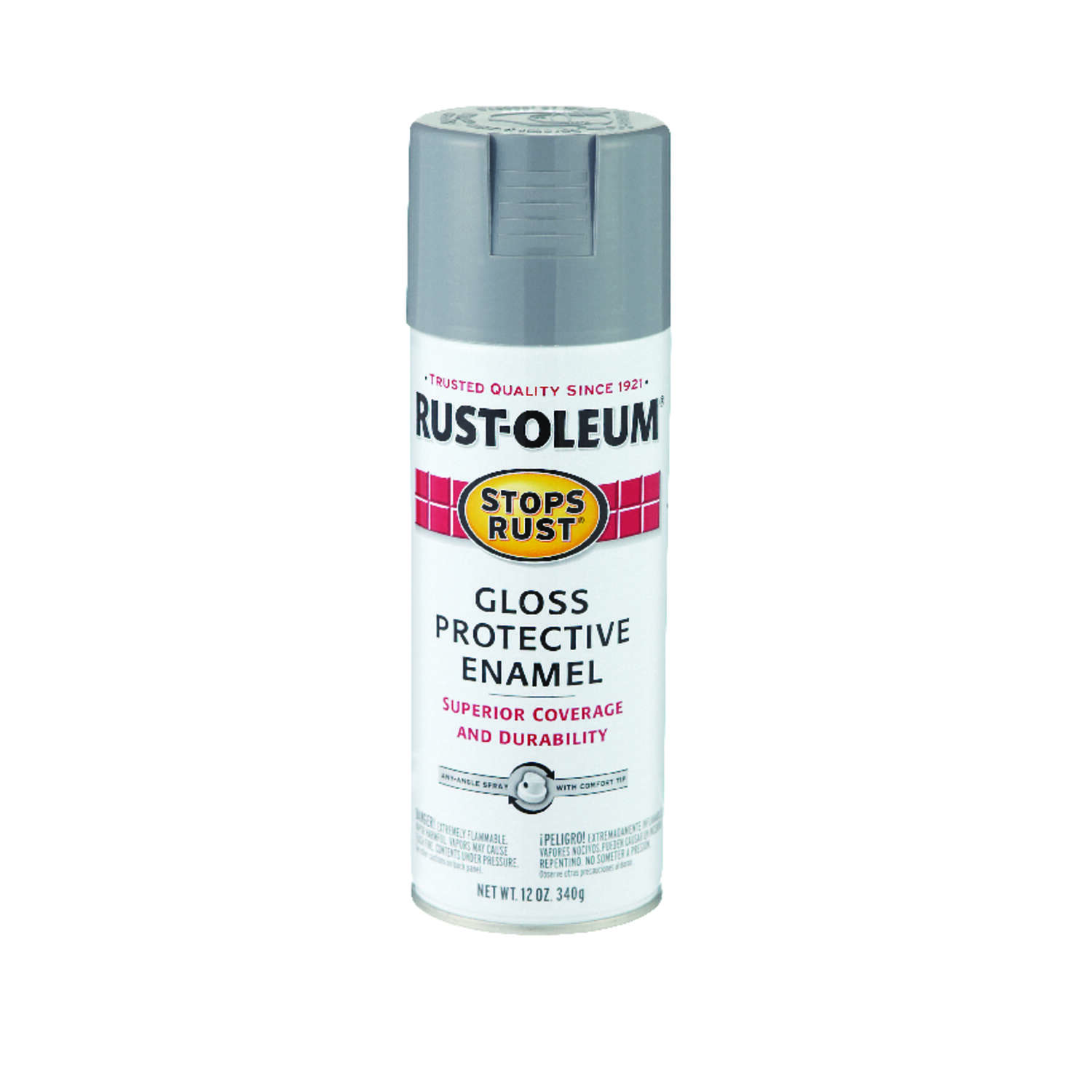 Rust-Oleum  Stops Rust  Gloss  Smoke Gray  Spray Paint  12 oz.