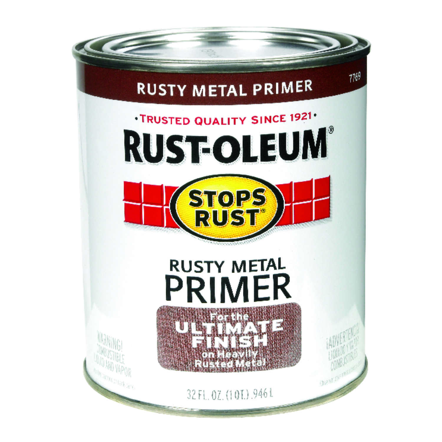 Rust-Oleum  Stops Rust  Brown  1 qt. For Metals Primer