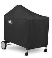 Weber  Black  Grill Cover  For Performer Premium and Deluxe 22 inch charcoal grills 46.7 in. W x 39.