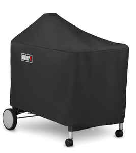 Weber  Black  Grill Cover  For Performer Premium and Deluxe 22 inch charcoal grills 48.5 in. W x 39.