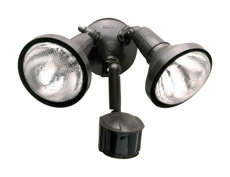 All-Pro  Motion-Sensing  180 deg. Incandescent  Bronze  Outdoor Floodlight  Hardwired