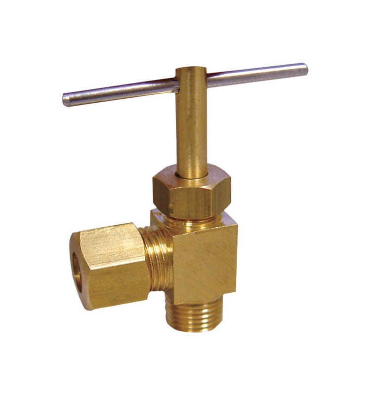 Ace  3/8 in. Dia. x 1/4 in. Dia. Brass  Straight  Needle Valve