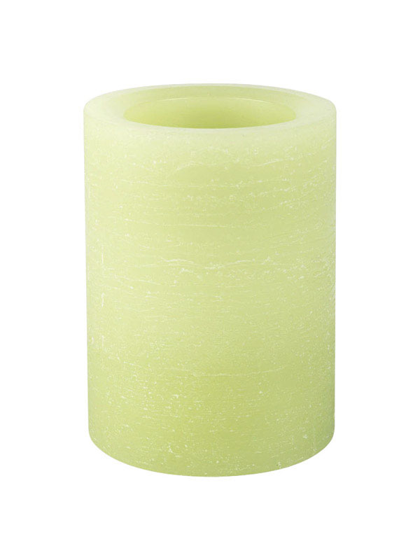 Inglow  Green  Ombre Rustic  Candle  4 in. H x 3 in. Dia.