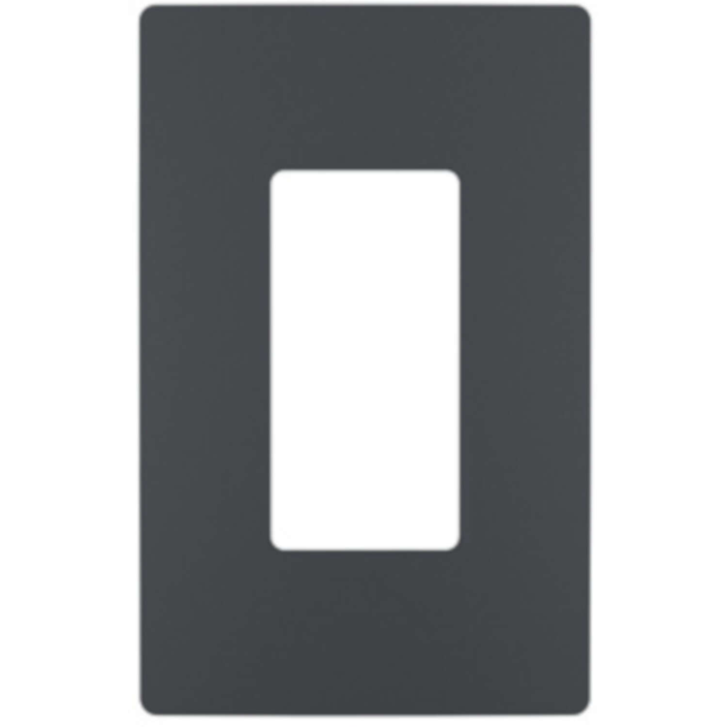 Legrand  Radiant  Graphite  1 gang Polycarbonate  Screwless  Wall Plate  1 pk