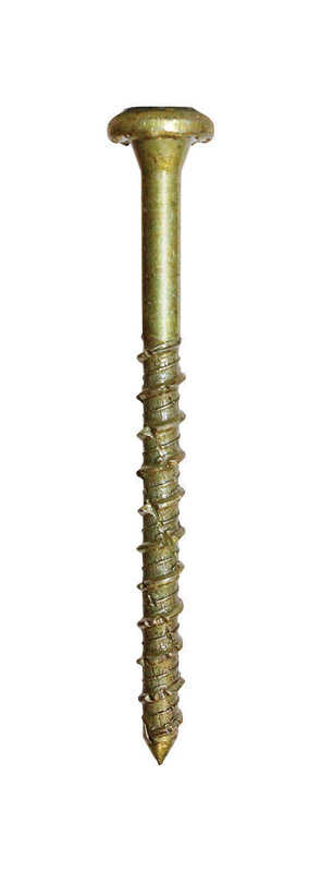 GRK Fasteners  No.18   x 2-3/4 in. L Star  Bugle Head Yellow Zinc  Steel  Concrete Screws  25 per bo