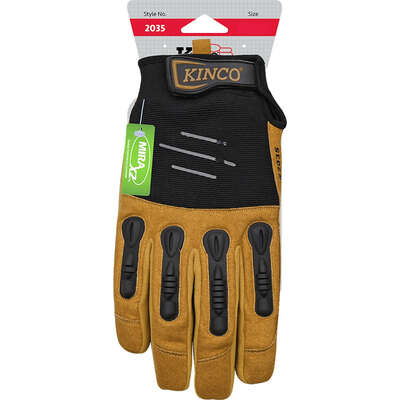 Kinco  Foreman  Men's  Indoor/Outdoor  Padded Gloves  Black/Tan  XL  1 pair