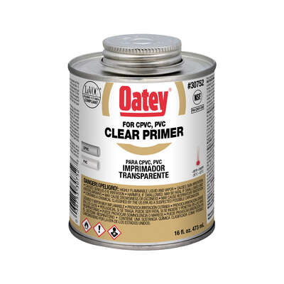 Oatey  Clear  Primer and Cement  For CPVC/PVC 16 oz.