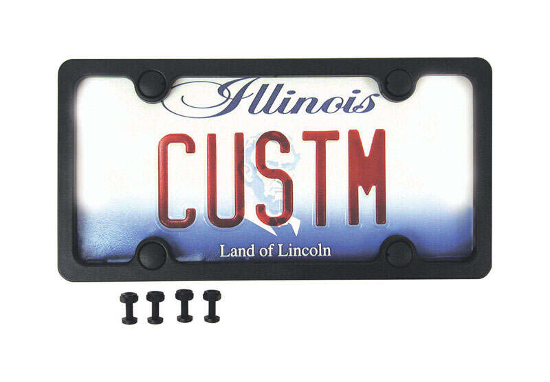 Custom Accessories  ABS  Black  License Plate Frame