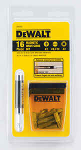 DeWalt  Multi Size in.  x 1 in. L Drive Guide  Heat-Treated Steel  16 pc.