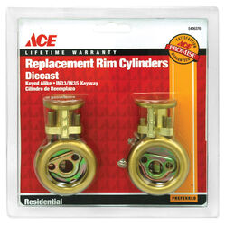 Ace IN33/IN35 Brass Brass Rim Cylinder Keyed Alike