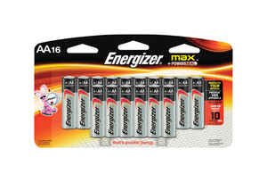 Energizer  MAX  AA  Alkaline  Batteries  1.5 volts 16 pk Carded