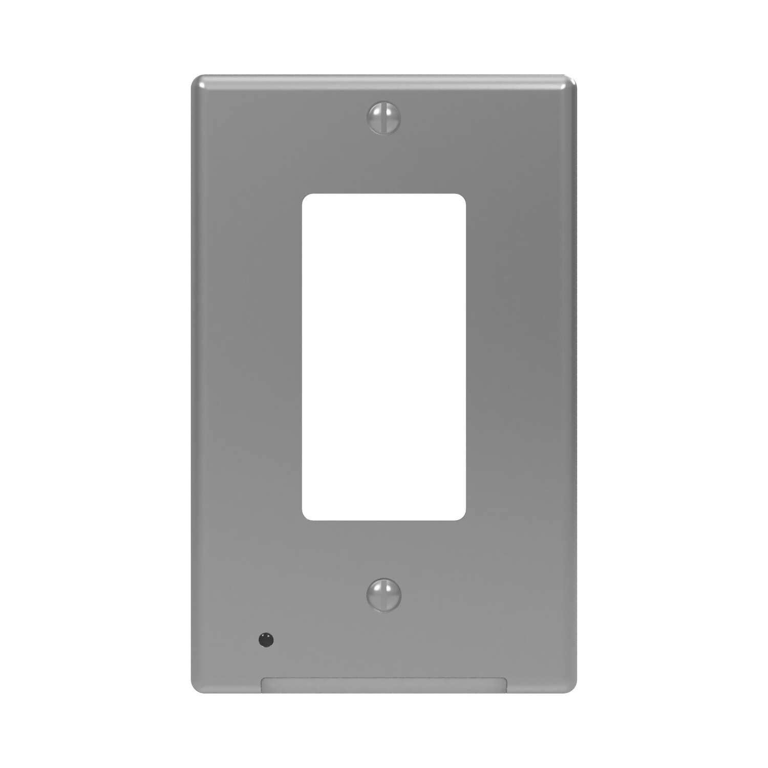Westek  LumiCover  Satin Nickel  1 gang Plastic  Rocker  Nightlight Wall Plate  1 pk