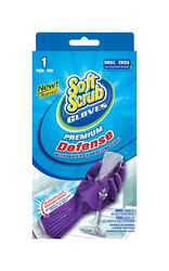Soft Scrub  Rubber  Cleaning Gloves  S  Purple  1 pair