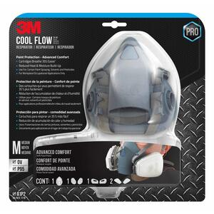3M  P95  Half Face Respirator  Valved Blue  1 pc.