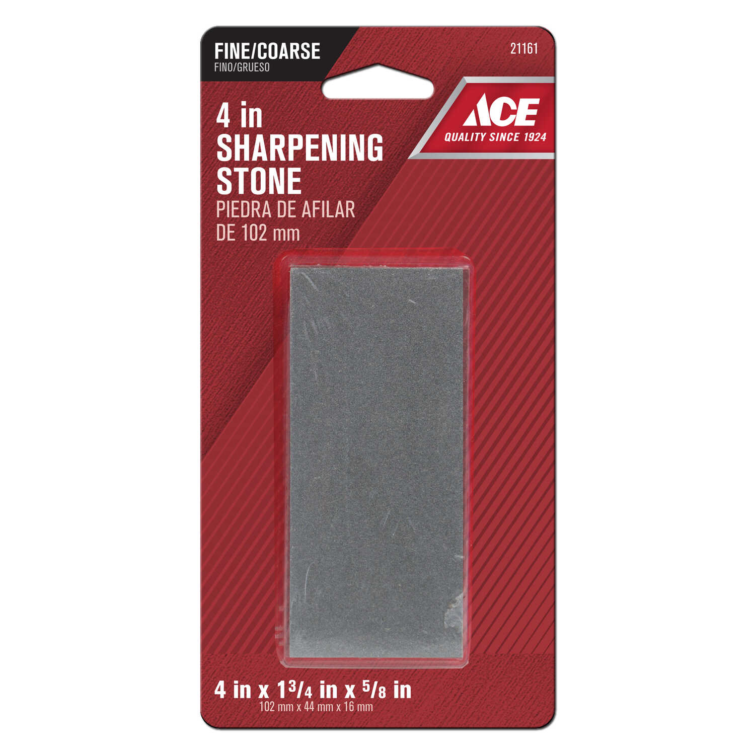 Ace  4 in. L Sharpening Stone  Silicon Carbide  60/80 Grit 1 pc.