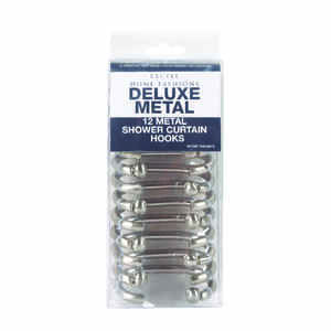 Excell  Brushed Nickel  Metal  Deluxe  Shower Curtain Rings  12 pk
