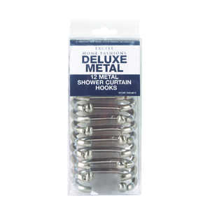 Excell  Brushed Nickel  Metal  Deluxe  Shower Curtain Rings  12 pk Brushed Nickel