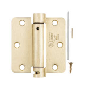 Ace  3.5 in. L Satin Brass  Brass  1 pk Residential Hinge