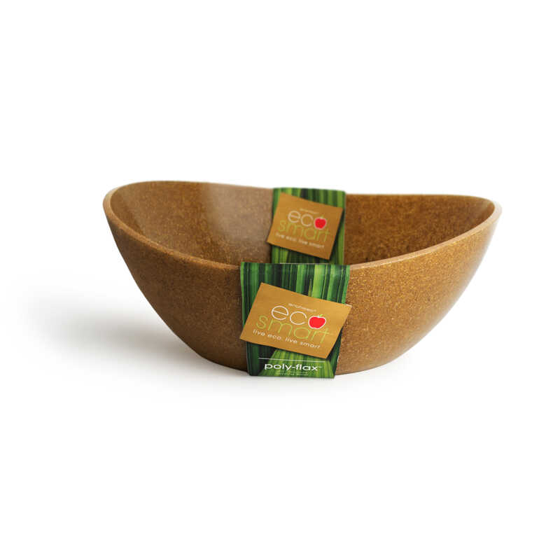 Ecosmart by Architec  14 in. Brown  Poly-Flax  Oval  Serving Bowl  1 pk