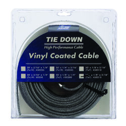 Tie Down Engineering  Vinyl Coated  Galvanized Steel  1/8 in. Dia. x 100 ft. L Aircraft Cable