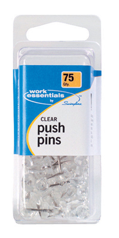 Swingline  Push Pins  75 pk Plastic  Work Essentials