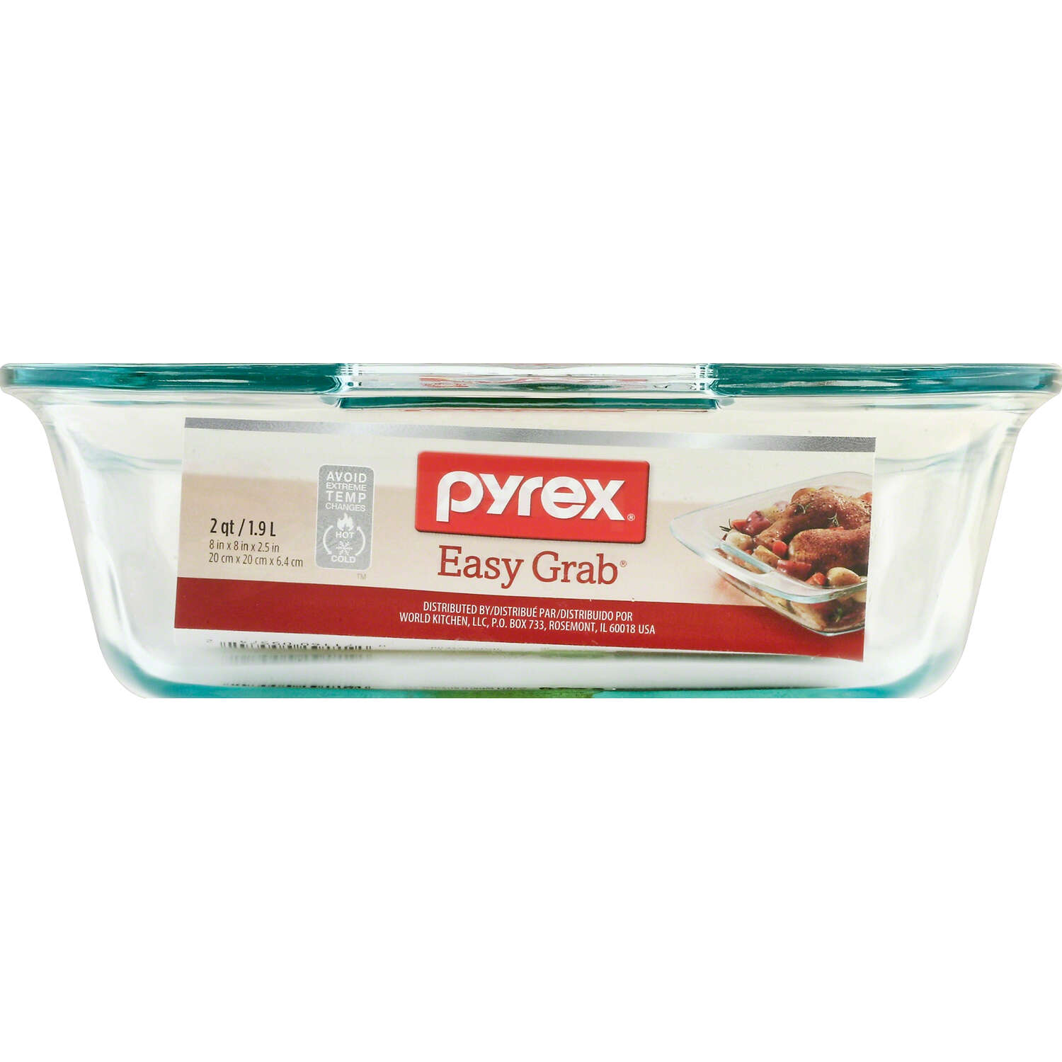 Pyrex  8 in. W x 8 in. L Square Dish  Clear