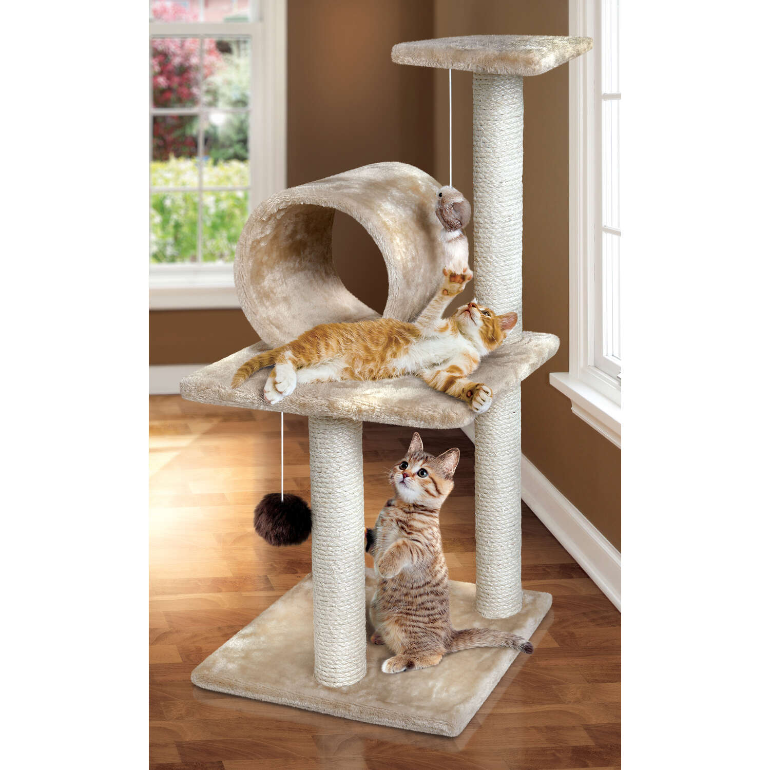 Animal Planet  Polyester  Cat Tree  Rectangular  15 in. W x 14 in. D x 30 in. H