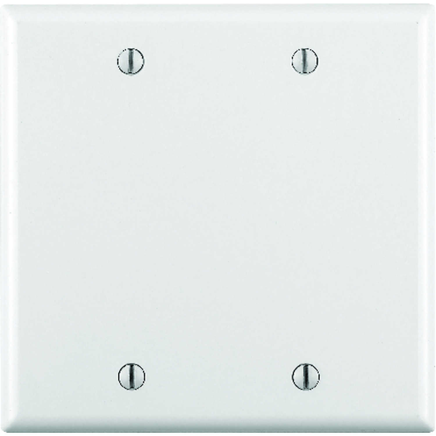 Leviton  White  2 gang Plastic  Blank  Wall Plate Cover  1 pk