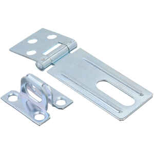 Ace  Zinc  3-1/4 in. L Fixed Staple Safety Hasp