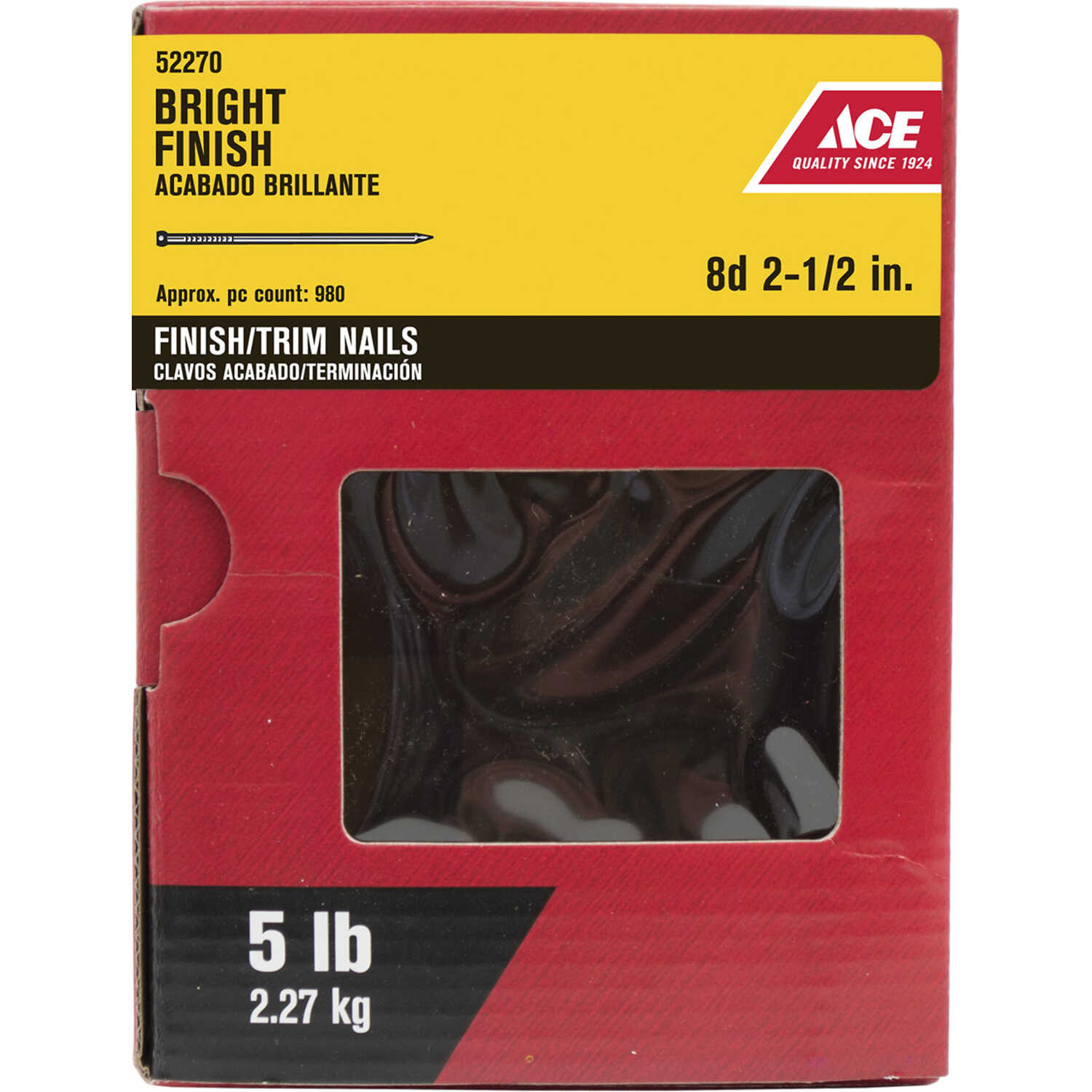 Ace  8D  2-1/2 in. L Finishing  Steel  Nail  Countersunk Head 5 lb.