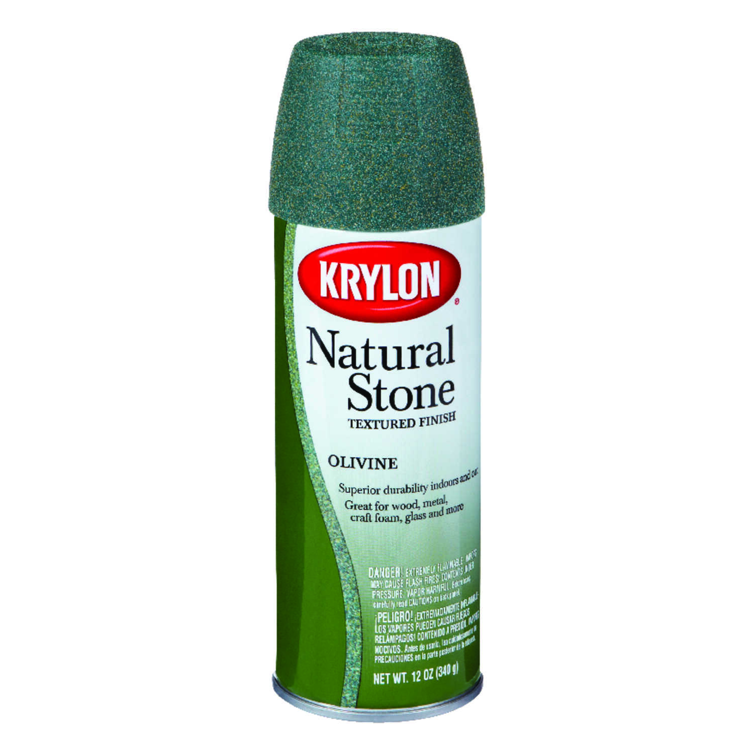 Krylon  Textured  Natural Stone Spray Paint  12 oz. Olivine