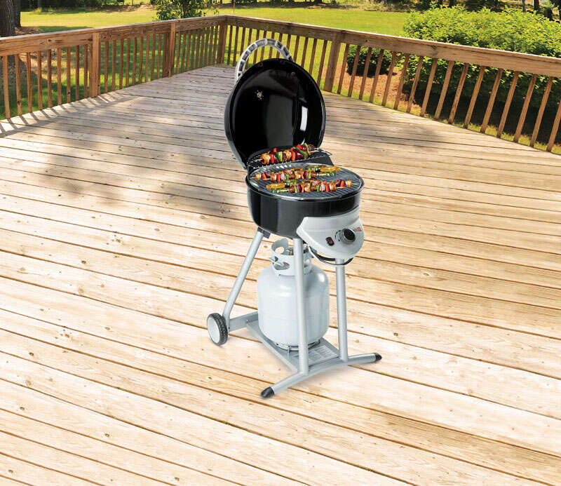 Char-Broil  Patio Bistro 240 Tru-Infrared  1 burners Propane  Black  Grill  13000 BTU