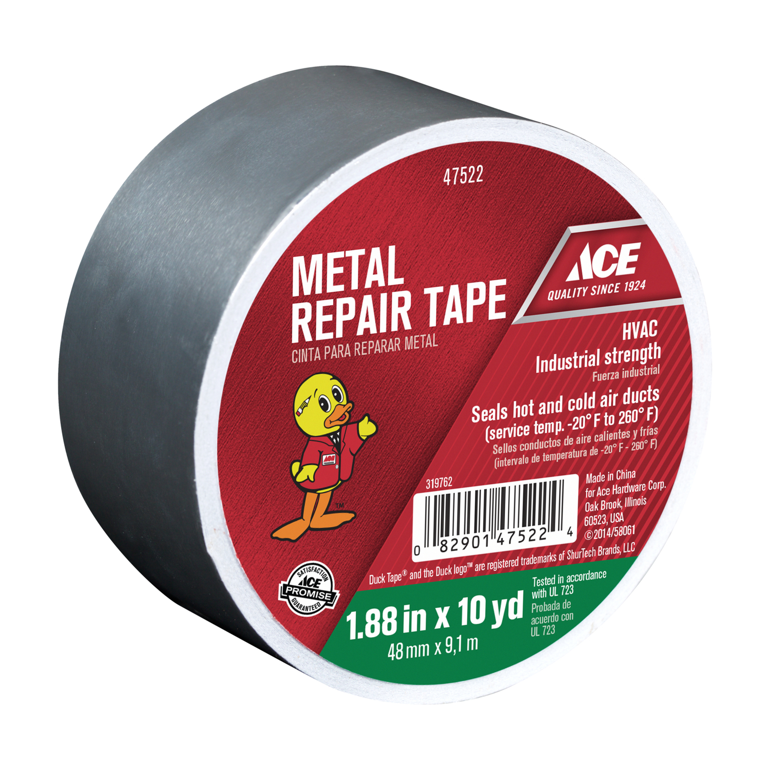 Ace  30 ft. L x 1.88 in. W Metal Repair Tape  Silver
