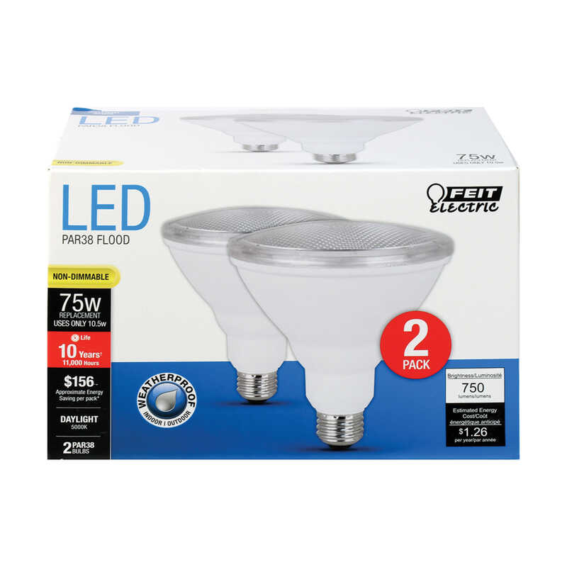 FEIT Electric  PAR38  E26 (Medium)  LED Bulb  Daylight  75 Watt Equivalence 2 pk