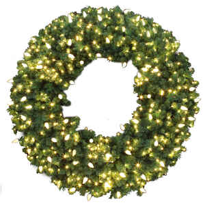 Celebrations  Prelit Green  LED Decorated Wreath  60 in. Dia. Warm White