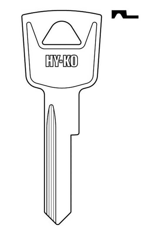 Hy-Ko  Automotive  Key Blank  Single sided For Fiat