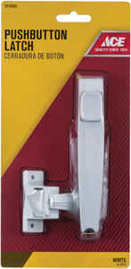 Ace  White  White  Steel  Push Button Latch  1 pk