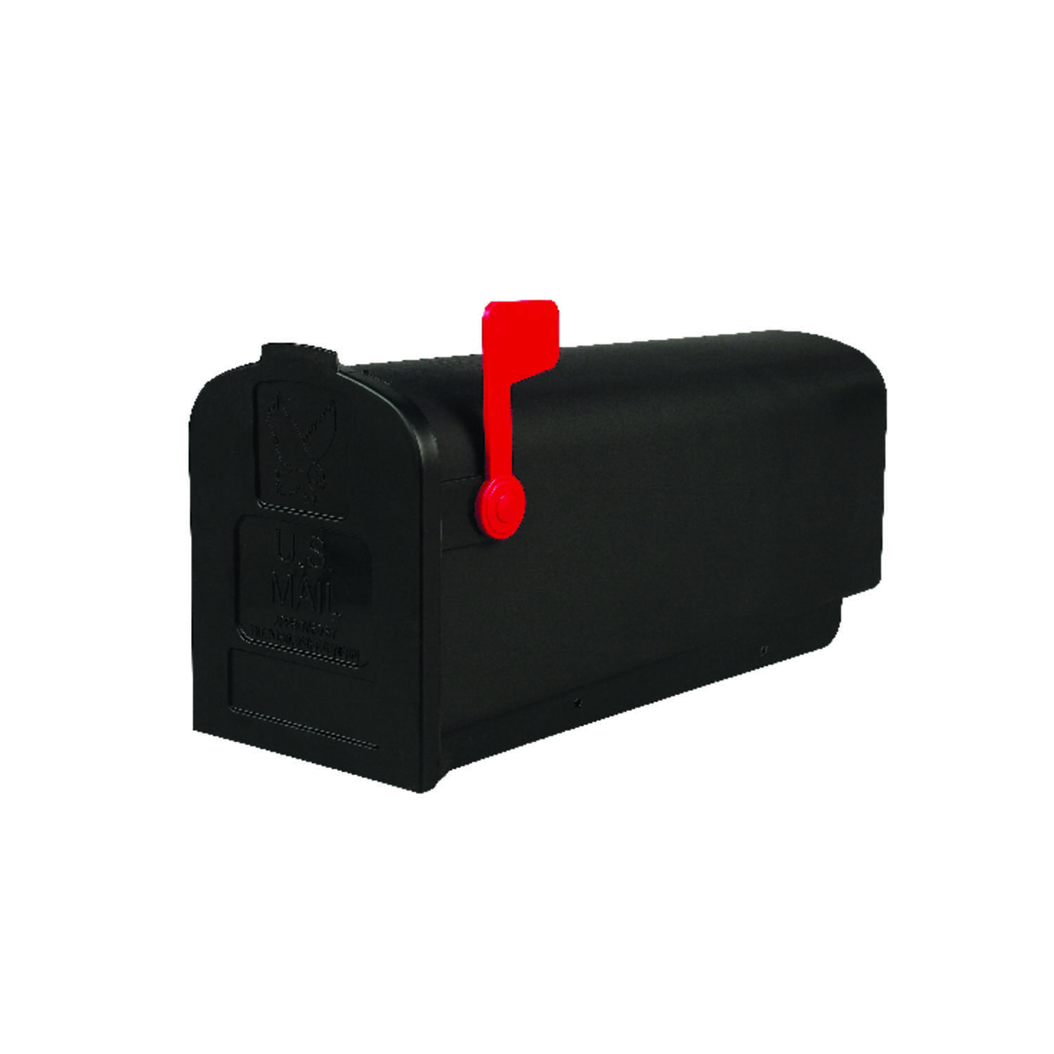 Gibraltar  Deluxe Polybox  Plastic  Post Mounted  Black  Mailbox  9-9/16 in. H x 7-7/8 in. W x 19-3/