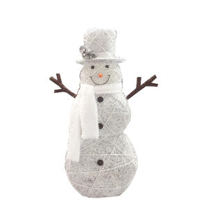 Celebrations Snowman Led Yard Art White Synthetic