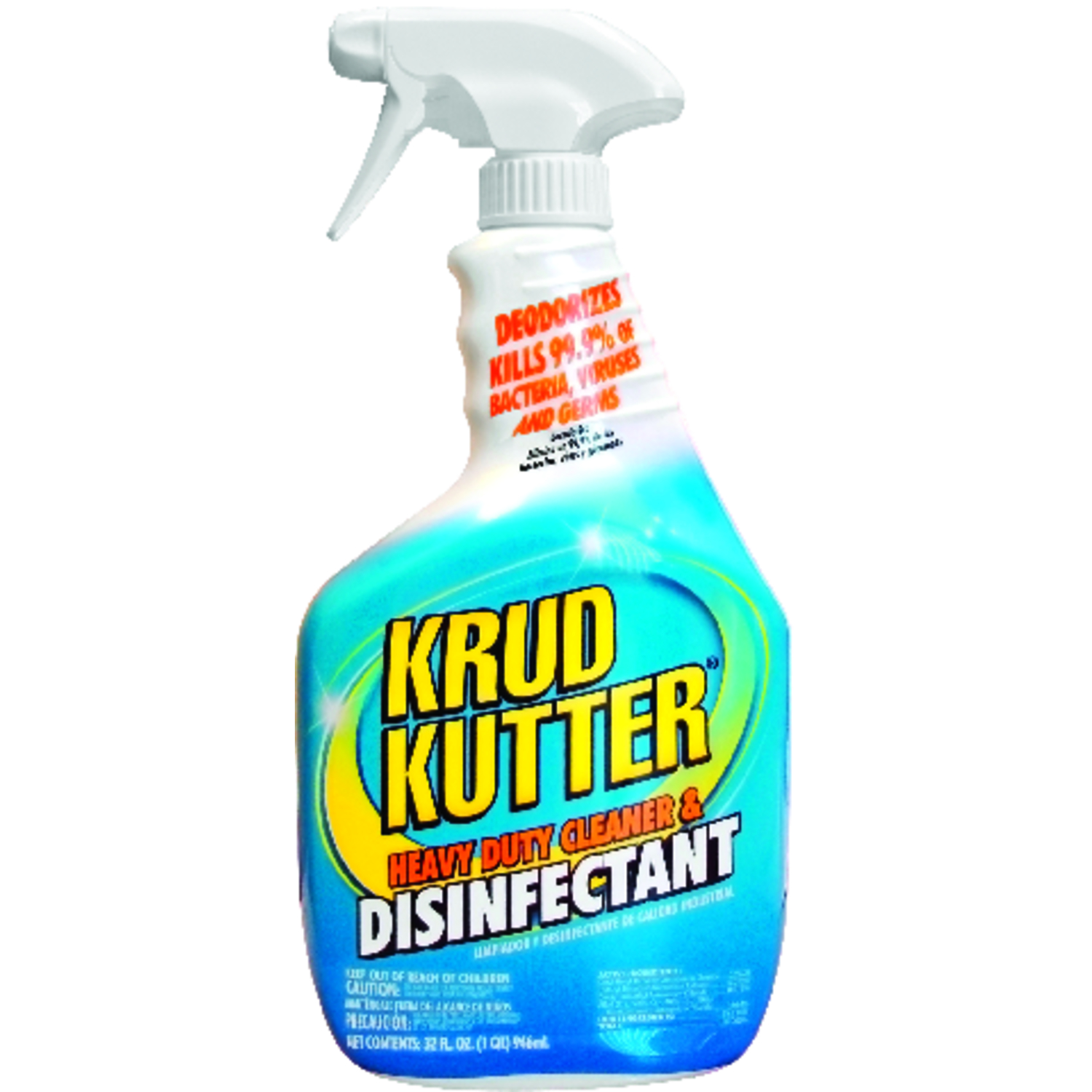 Krud Kutter  Heavy Duty Cleaner & Disinfectant  No Scent Cleaner and Disinfectant  32 oz. Liquid