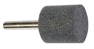 Forney  1 in. Dia. x 1 in. L Aluminum Oxide  Stem Mounted Point  3450  1 pc. Cylinder