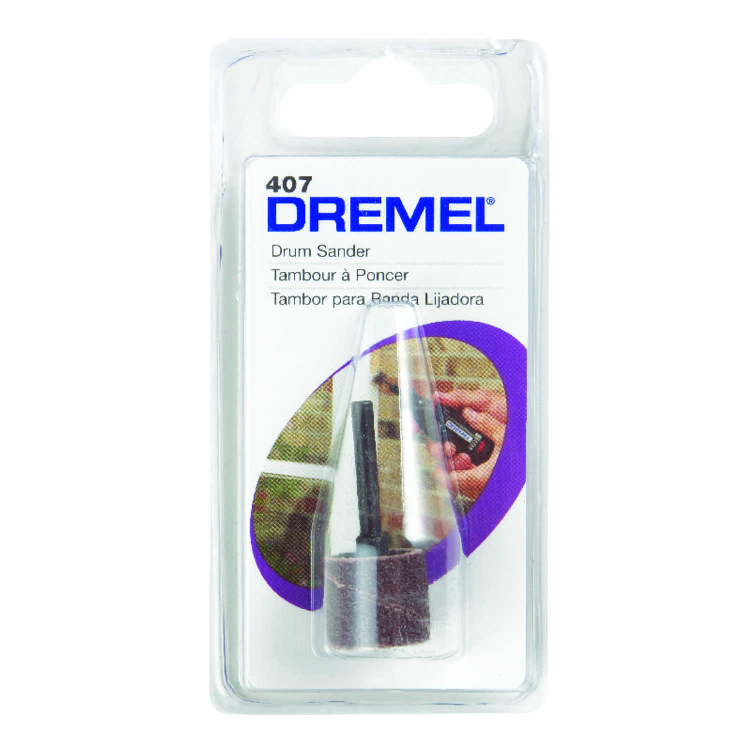 Dremel  0.5 in. Dia. x 1/2 in. L Aluminum Oxide  Drum Sander Bands  60 Grit Coarse  1 pc.