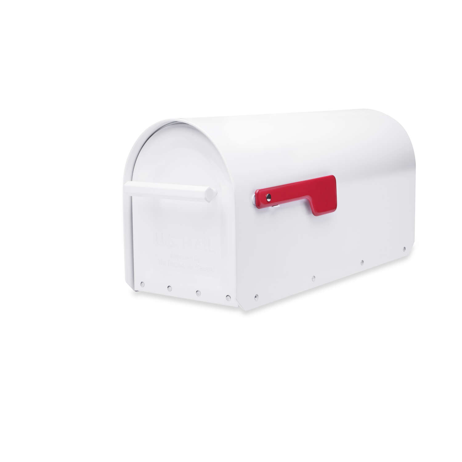Architectural Mailboxes Sequoia Modern Galvanized Steel Post Mount White Mailbox