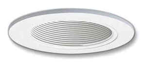 Halo  Matte  White  4 in. W Plastic  LED  Recessed Baffle and Trim