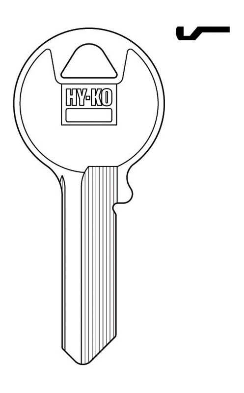 Hy-Ko  Automotive  Key Blank  EZ# VR2  Single sided For For Viro And Imported Locks