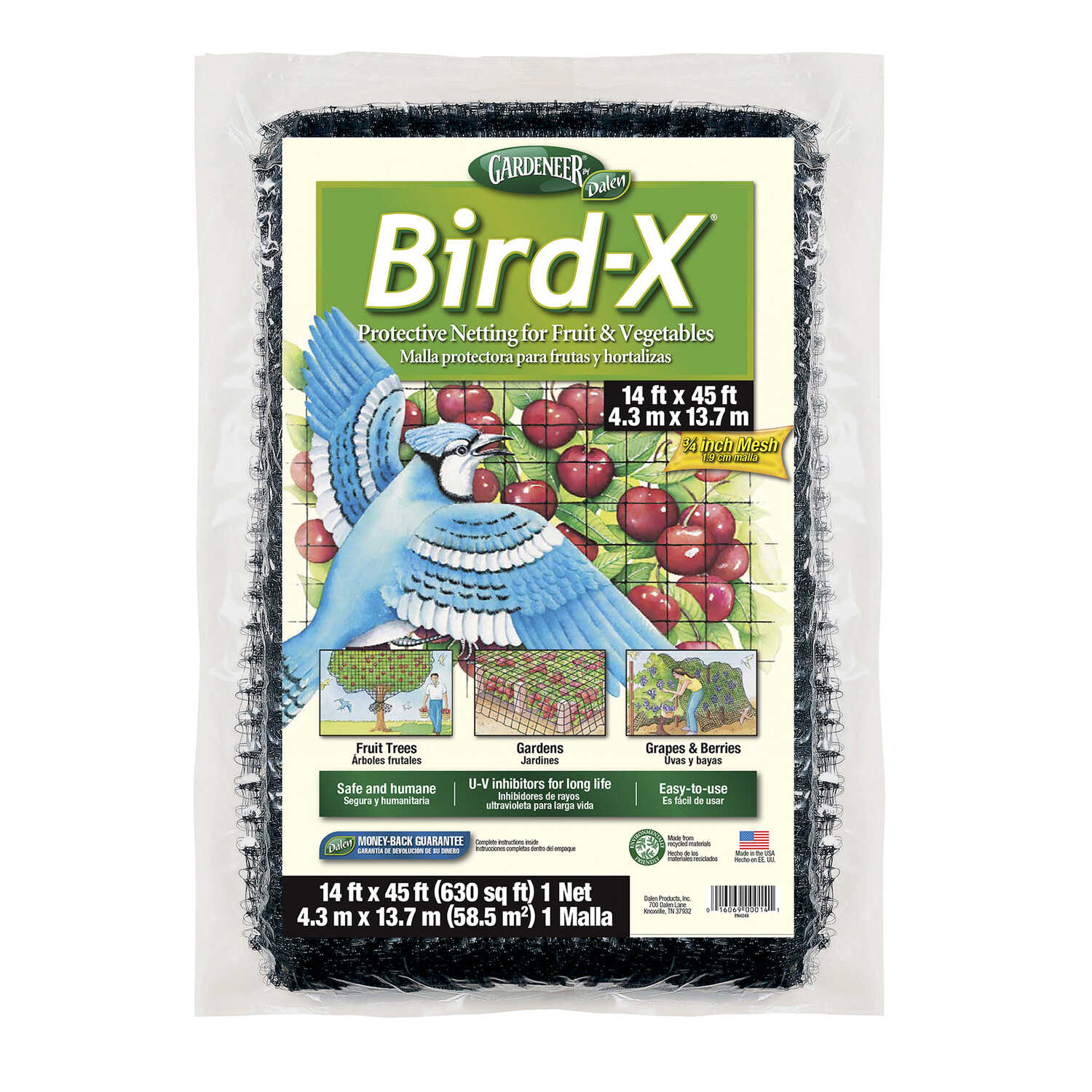 Bird-X  Gardeneer  Bird Netting  For Assorted Species 1 pk
