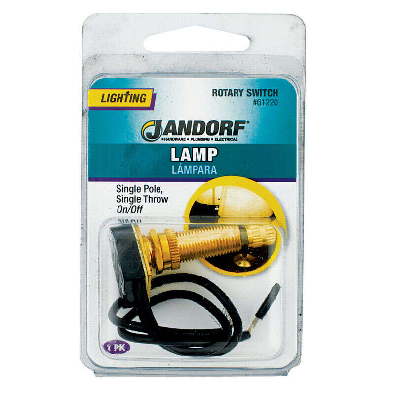 Jandorf  6 amps Single Pole  Brass  1  Rotary  Appliance Switch