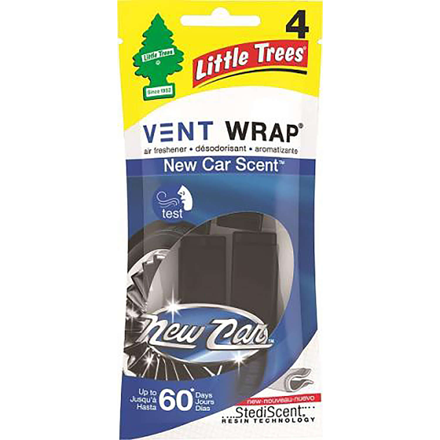 Little Trees  Vent Wrap  New Car Scent Car Air Freshener  4 pk