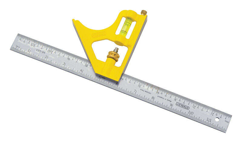 Stanley  12  L x 3  H Combination Square  Silver  Steel